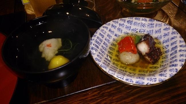 彩岳館 夕食料理2