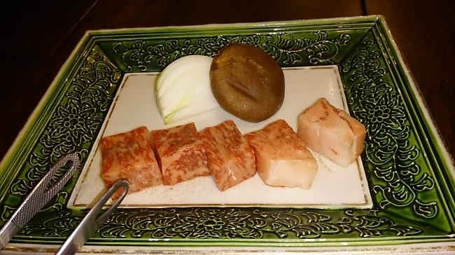 彩岳館 夕食料理 黒毛和牛1