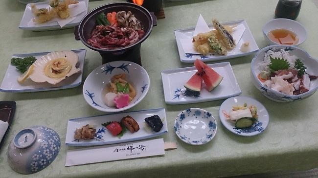 ホテル峰の湯 夕食料理