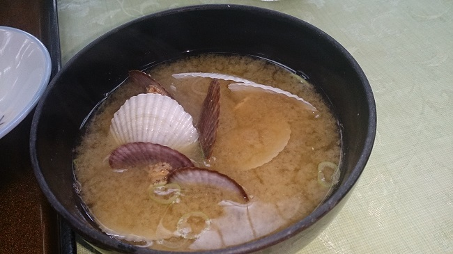 ホテル峰の湯 朝食 味噌汁