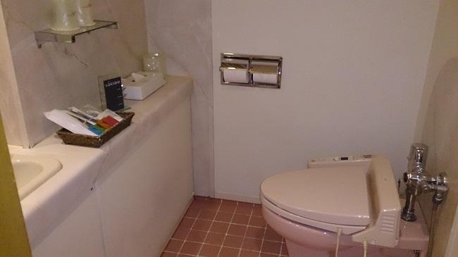 ホテルアネックス 部屋 洗面台、トイレ