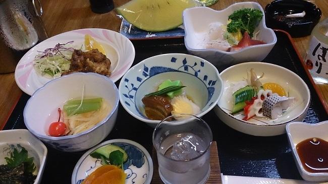 正観湯温泉旅館 夕食料理