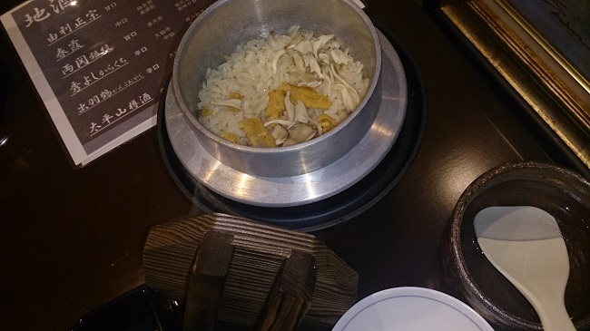 ホテルグランド天空 夕食料理4 釜飯