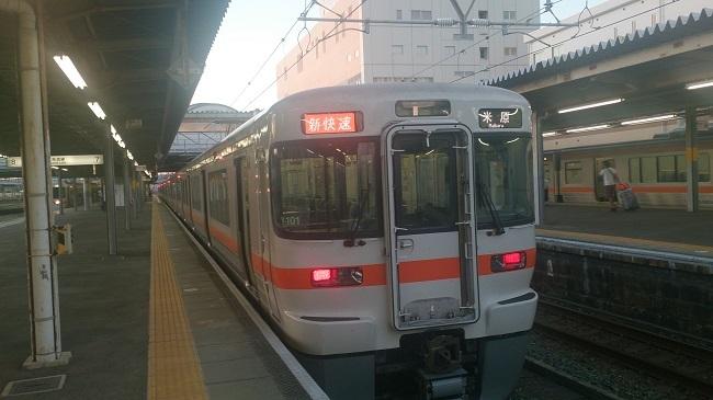 東海道線新快速米原行き