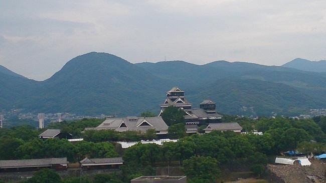 ホテル日航熊本 部屋からの眺望