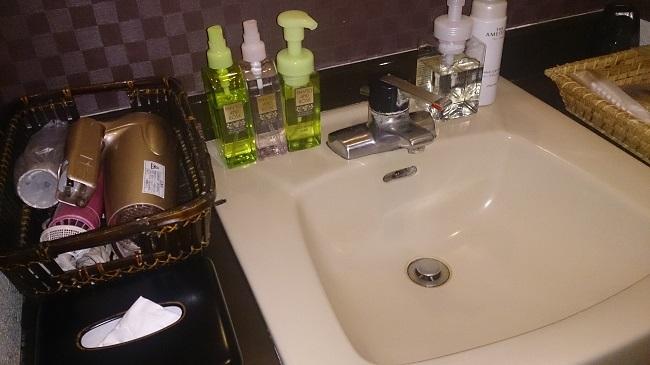 和の宿夢月 部屋 洗面台