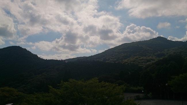 青雲荘 部屋からの眺望