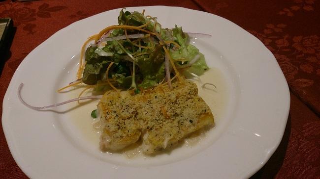 青雲荘 夕食 洋皿