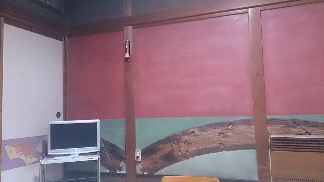芳野旅館 和室 壁1