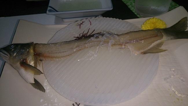 芳野旅館 夕食料理 鮎造り骨
