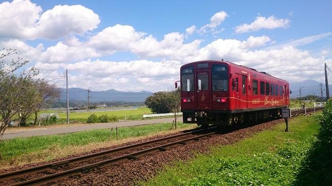 くま川鉄道 田園地帯