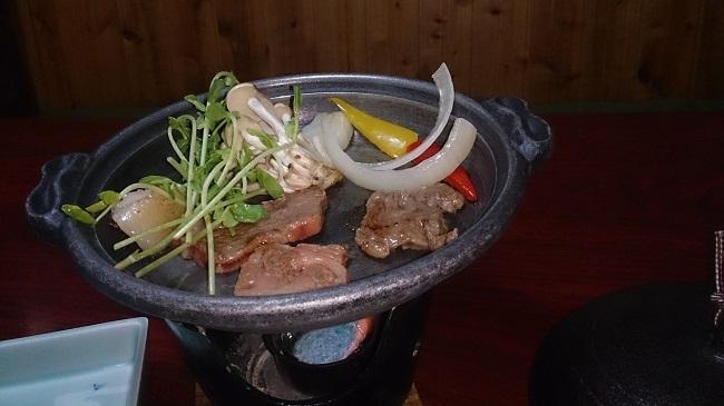 神の郷温泉 夕食和会席 宮崎牛陶板焼