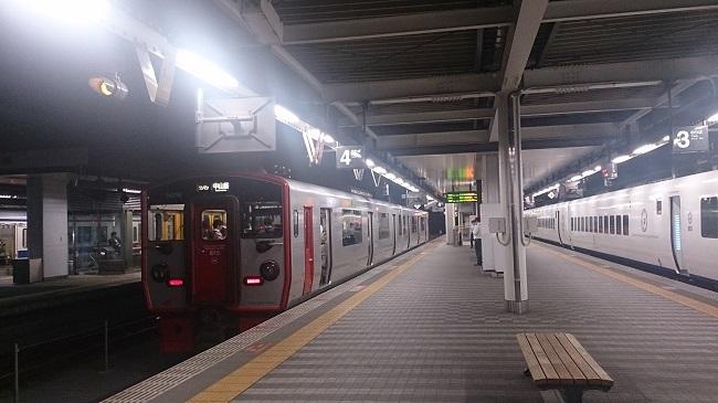 大分駅ホーム。