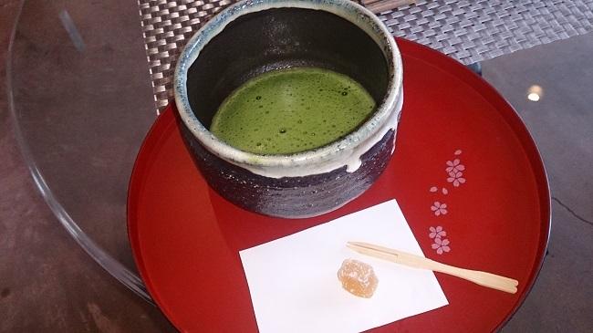 浜膳旅館 抹茶サービス