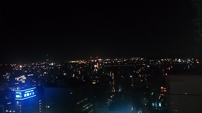 JR九州ホテル ブラッサム大分 天空風呂からの夜景2