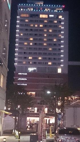 JR九州ホテル ブラッサム大分 全景 夜