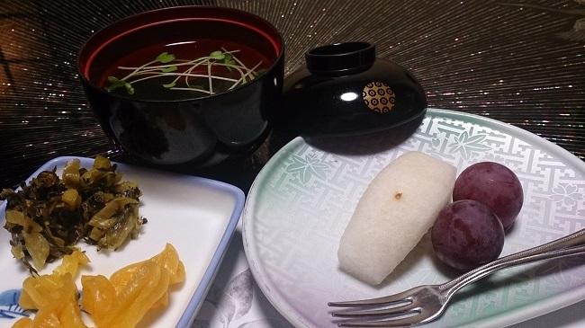 浜膳旅館 夕食料理 デザート、他