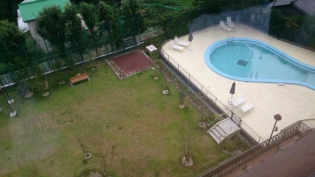 リゾーピア別府 裏庭 プール