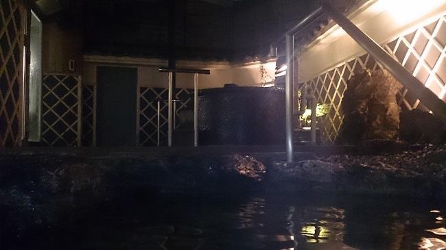 土佐御苑 大浴場 露天風呂 夜