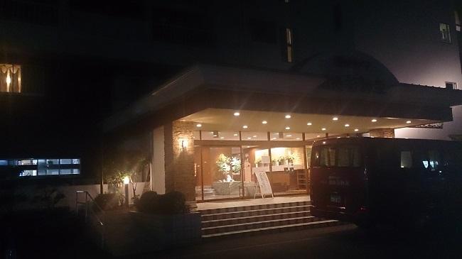 道後彩朝楽 エントランス 巡回バス