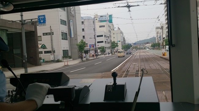 鉄道四国一周 伊予鉄道城南線 車内