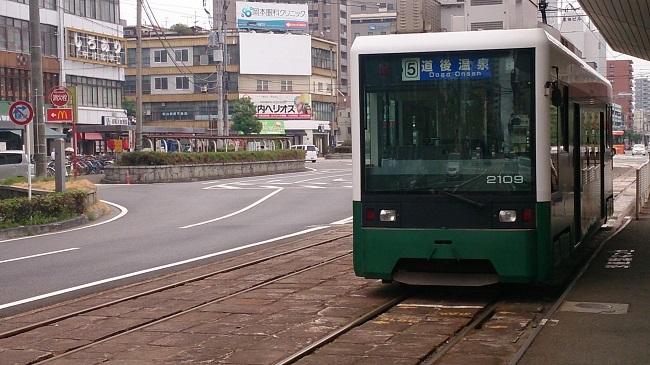 鉄道四国一周 伊予鉄道城南線 路面電車
