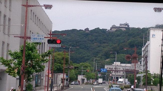 鉄道四国一周 バス伊予西条行き 松山城