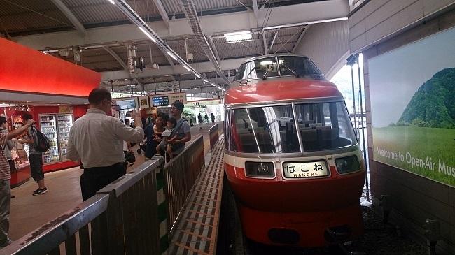 箱根湯本駅 ロマンスカー
