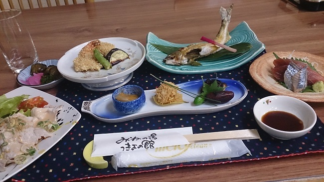 つきよの館 夕食料理1