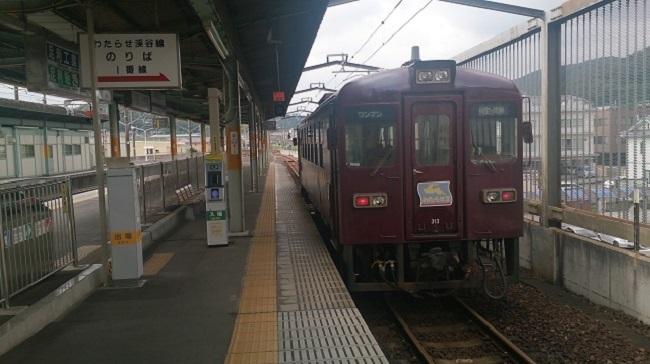 わたらせ渓谷鐡道 桐生駅ホーム