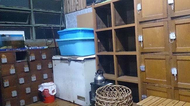 民宿浜の湯 大浴場 脱衣所2