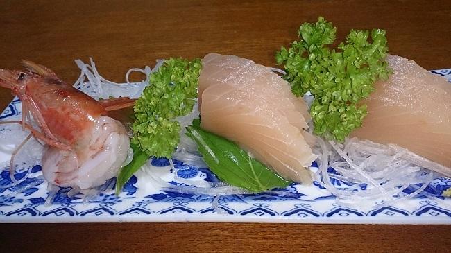 民宿浜の湯 夕食料理 刺身