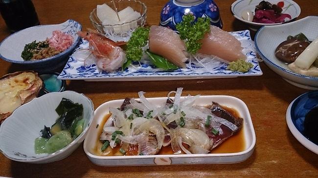 民宿浜の湯 夕食料理