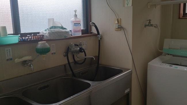 民宿浜の湯 共同洗面所