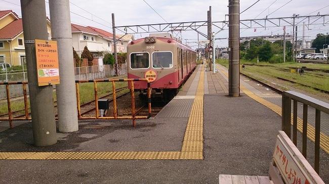 銚子電鉄 銚子駅ホーム