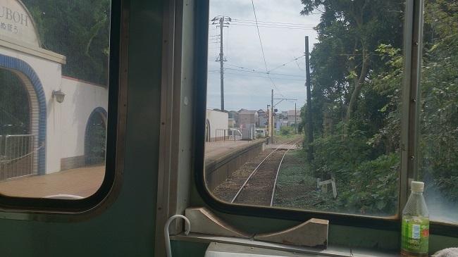 銚子電鉄 犬吠駅を出発