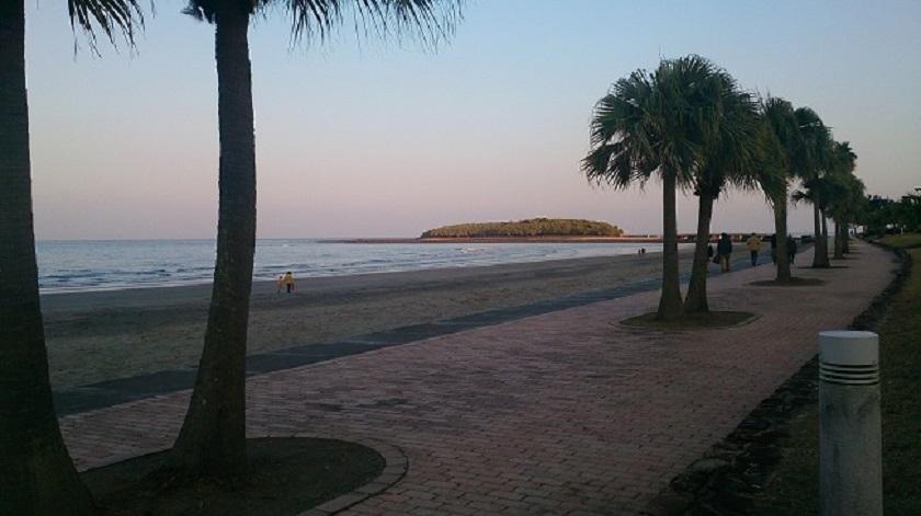 青島海岸と青島