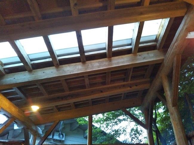 北原荘 大浴場 露天風呂 屋根