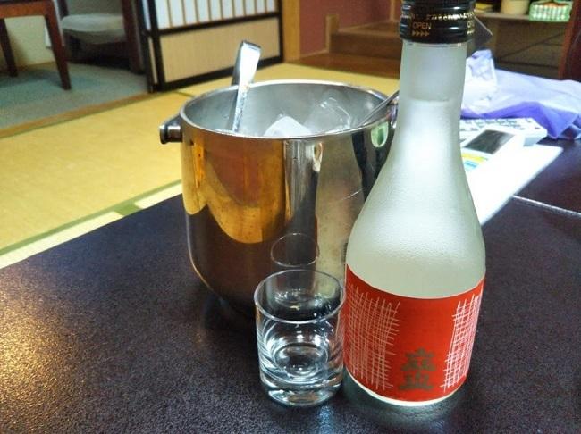 北原荘 夕食 地酒冷酒