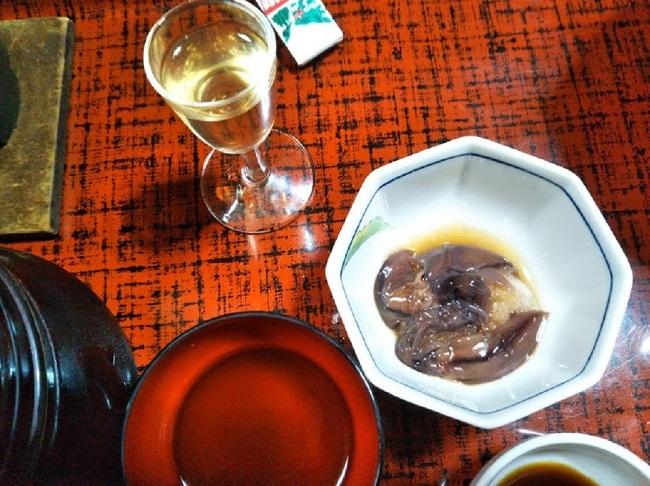北原荘 夕食 ほたるいかと食前酒