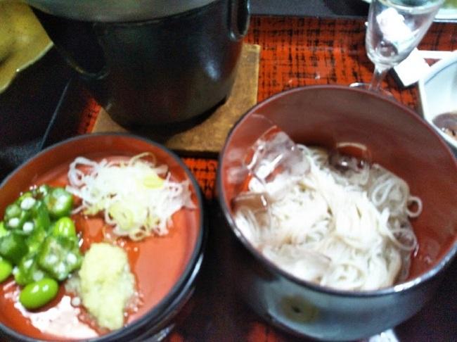 北原荘 夕食 蕎麦そうmん