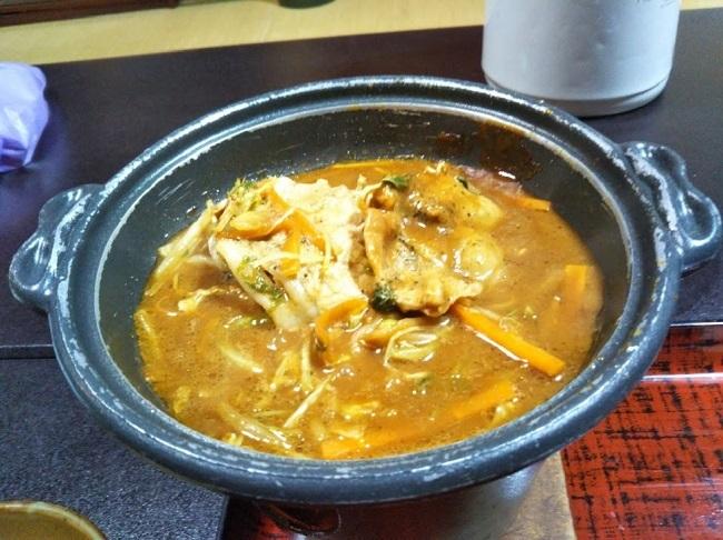 北原荘 夕食 陶板焼き2