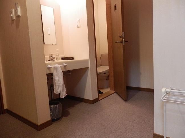極楽寺山温泉 洗面台、トイレ