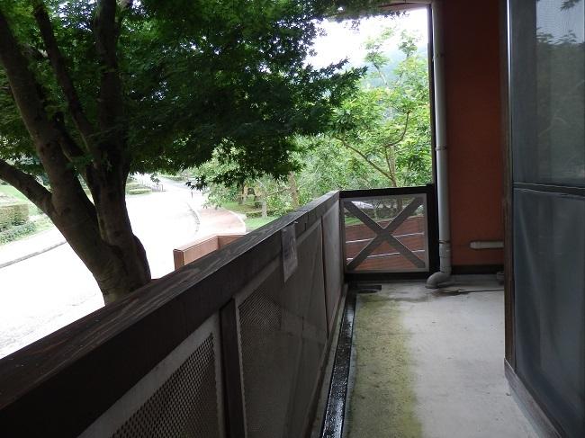 極楽寺山温泉 バルコニー