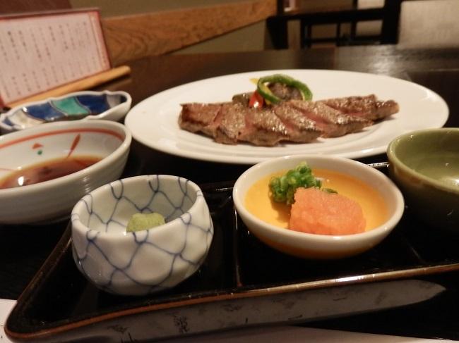 作州武蔵温泉 夕食 ステーキ