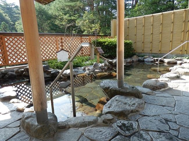 作州武蔵温泉 大浴場 露天風呂1