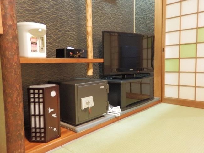 和の宿夢月 部屋 テレビ、金庫
