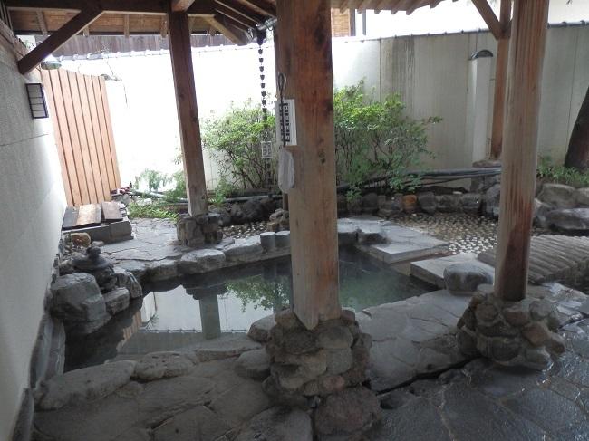 和の宿夢月 大浴場 露天風呂1