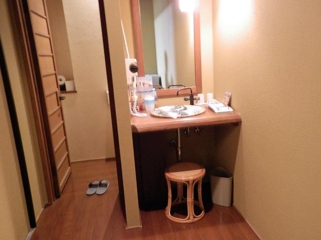 浜膳旅館 部屋 洗面台、トイレ