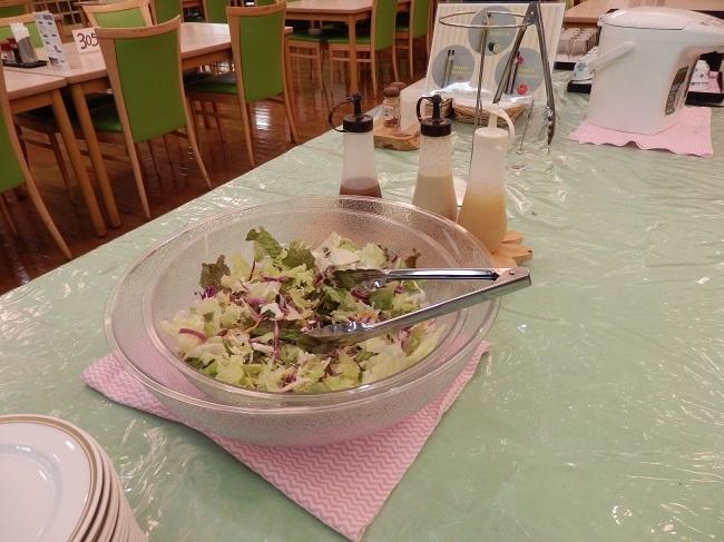 久住高原荘 夕食料理 野菜サラダ